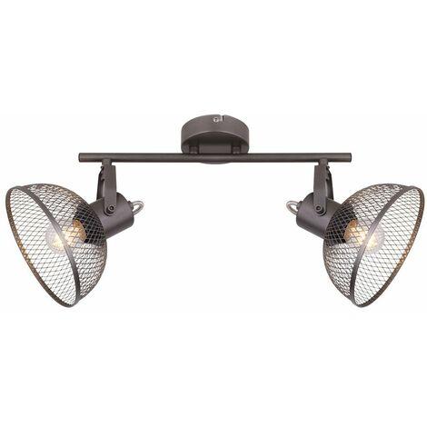Lámpara de techo jaula focos iluminación de salón ajustable lámpara de cromo  Globo 54325-2