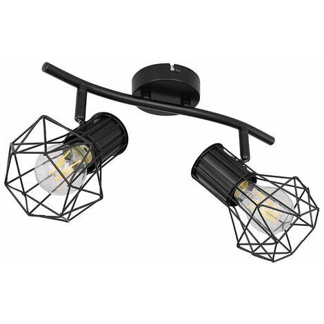 Lámpara de techo, jaula, lámpara de comedor, control remoto, barra pivotante, REGULABLE en un juego que incluye lámparas LED RGB