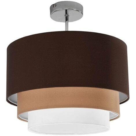Lámpara de techo Jayda, tres capas de tela