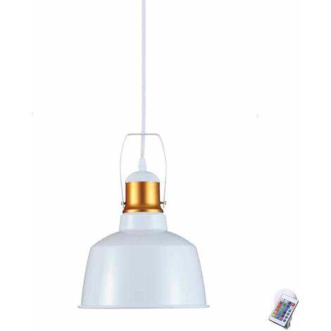 Lámpara de techo lámpara pasillo dormitorio ALU focos de techo REGULADOR en el conjunto incluyendo lámparas LED RGB