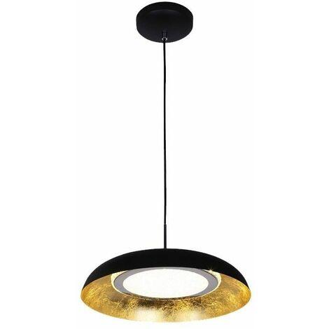 Lámpara de techo LED 12W 3 TEMPERATURAS GAN NEGRO CRISTALRECORD 99-068-12-180