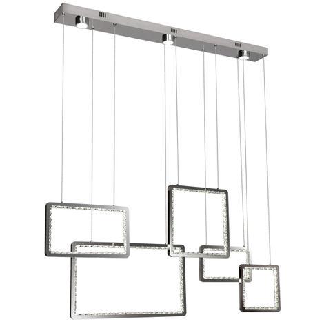 Lámpara de Techo LED 65W Square con Mando a Distancia 3000+4000+6000 | IluminaShop