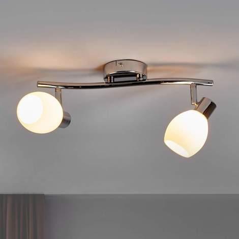 Lámpara de techo LED Aidan de dos llamas