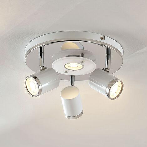 Lámpara de techo LED Alsuna, 4 luces, Ø 26cm