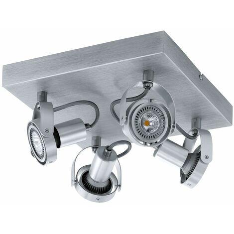 Lámpara de techo LED ALU spot iluminación de salón ajustable lámpara de foco angular EGLO 94645