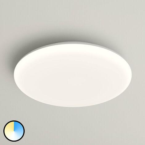 Lámpara de techo LED Azra blanco IP54 Ø 30 cm
