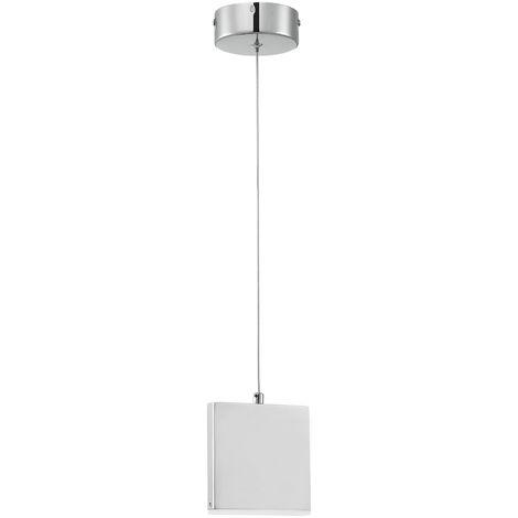 Lámpara de techo LED - bombilla incluida - cromo/plata (5W-350lm) blanco neutro
