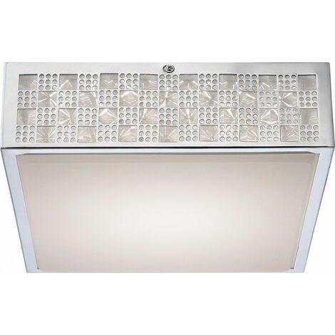 Lámpara de techo LED de 18 vatios, lámpara de iluminación con patrón cromado EEK A Licht Globo 41614