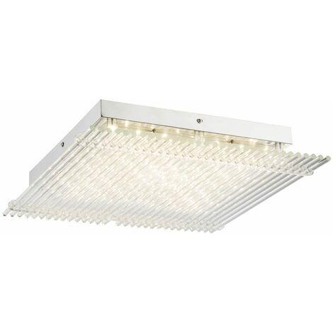 Lámpara de techo LED de diseño para invitados, barra de vidrio para habitaciones, focos de cromo transparente Globo 49248-21