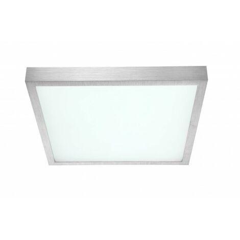 Lámpara de techo LED de lujo para dormir habitación de invitados ALU Spotlight silver Globo 41663