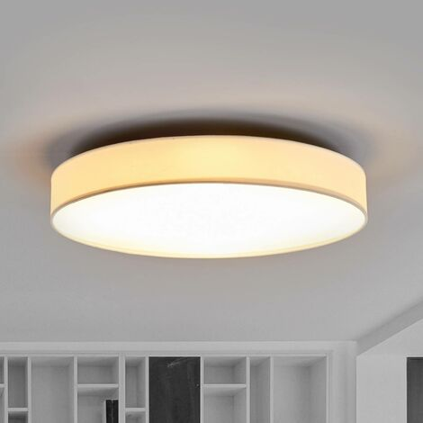 Lámpara de techo LED de tela Saira, 50 cm, blanco