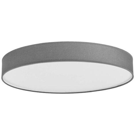 Lámpara de techo LED de tela Saira, 50 cm, gris
