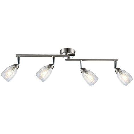 Lámpara de techo LED Habitación para dormir Riel de punto Luminaria de riel ligero Luminaria ajustable Globo 56023-4