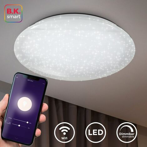 Lámpara de techo LED I Plafón I Controlable con aplicación Sistema Smart Home I compatible con iOS & Android I incluye 40W 4000lm LED I WiFi I atenuable I