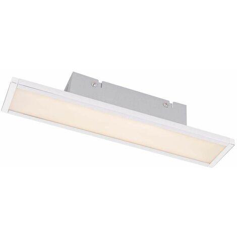 Lámpara de techo LED lámpara cromada ópalo rectangular iluminación baño blanco