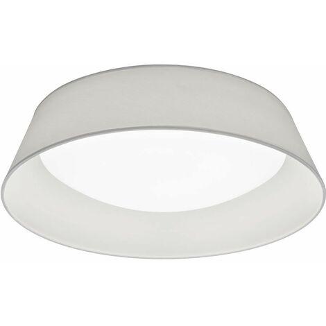 Lámpara de techo LED para dormir habitación de invitados tela sombra proyector luz del pasillo Realidad Leuchten R62871801