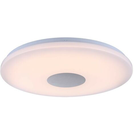 Lámpara de techo LED para pasillo que ilumina focos de cromo para sala de estar, 1x LED 24 vatios 1680 lúmenes 3000K blanco cálido, 47.5x5.5cm, sala de estar dormitorio