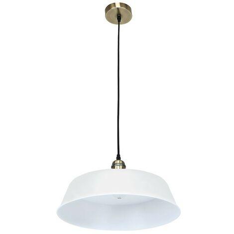 "Lámpara de techo LED ""PARIS"" E27 BLANCO MATE CRISTALRECORD 99-049-27-000"