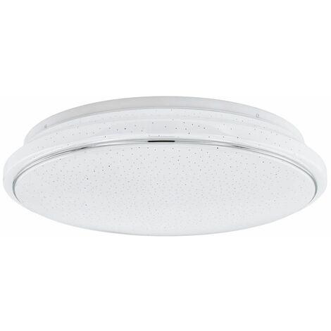 Lámpara de techo LED pasillo estrellas efecto temporizador lámpara de luz diurna control remoto blanco Eglo 34046