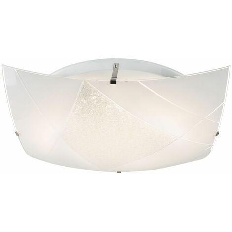 Lámpara de techo LED patrón de vidrio dormir invitados iluminación de la habitación focos luz del pasillo Globo 49356-24