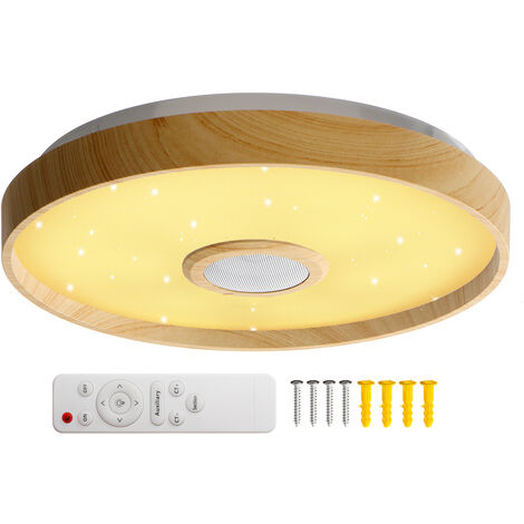Lámpara de techo LED RGB music 124 LED 34CM