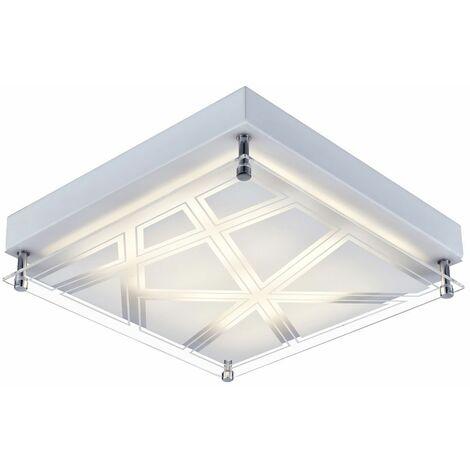 Lámpara de techo LED sala de dormir iluminación lámpara de pie patrón sombra plata Esto 740082