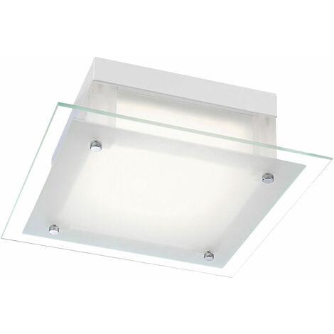 Lámpara de Techo LED Sala de estar Iluminación de Spot de Cristal Cromo Spot Light Square Globo 49325