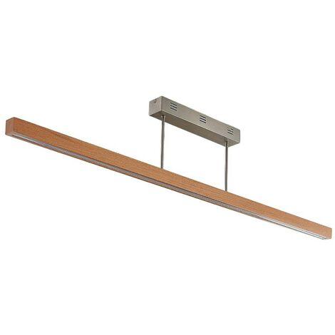 Lámpara de techo LED Tamlin madera, haya, 140 cm