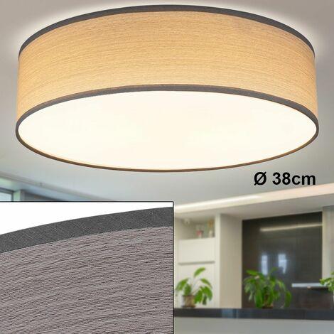 Lámpara de techo living dormitorio iluminación madera óptica focos hall luz gris Globo 15363G
