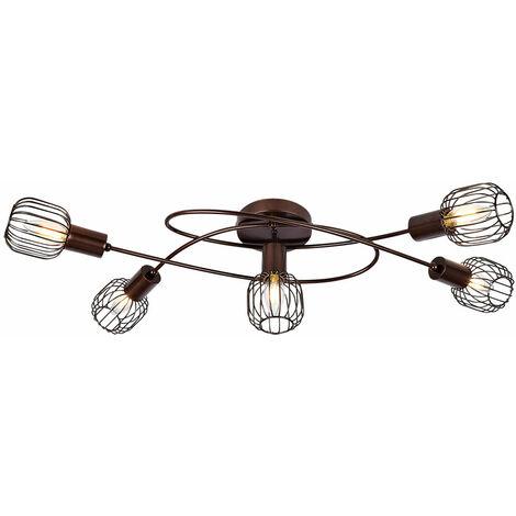 Lámpara de techo living dormitorio lámpara metal celosía iluminación color bronce