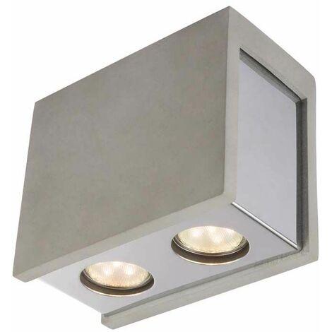 Lámpara de techo luminaria iluminación metal cromado hormigón gris salón comedor dormitorio