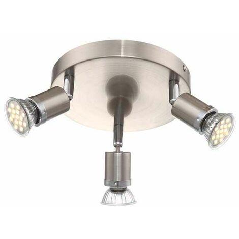 Lámpara de techo Luminaria Metal Cromo Níquel Matt Spots Iluminación móvil Oficina