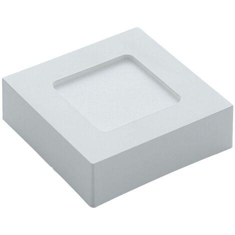 Lámpara de techo Marlo blanca 3000K angular 12,8cm