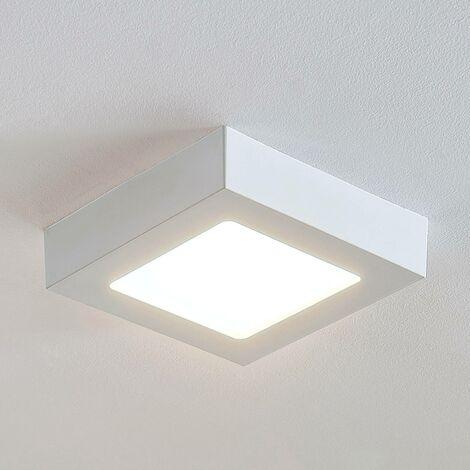 Lámpara de techo Marlo blanca 3000K angular 18,1cm