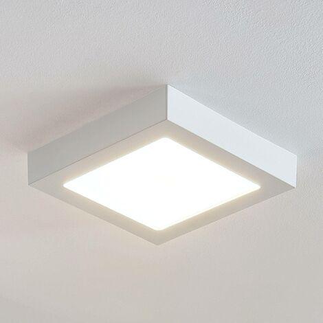 Lámpara de techo Marlo blanca 3000K angular 23,1cm