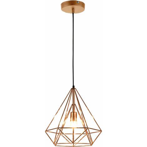 Lámpara de techo moderna bronce metal look industrial [1 x E27] longitud 200cm