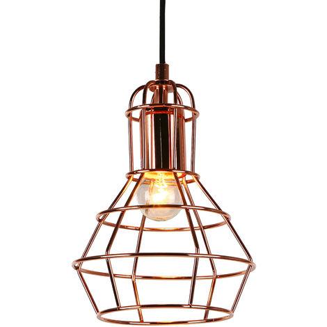 Lámpara De Techo moderna cobre metal look-industria (1 x base E27) longitud 140cm