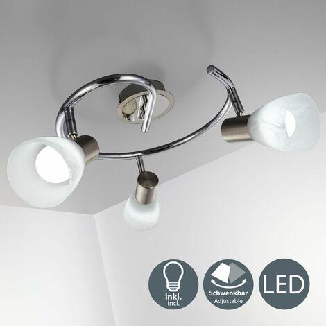Lámpara de techo moderna con focos giratorios incl. 3 x 5,5W bombillas LED E14, Luz blanca cálida 3000K 230V IP20