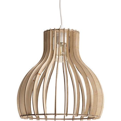 Lámpara de techo moderna madera clara D28cm FIJI