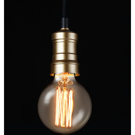 Lámpara de techo moderna negro metal Edison vintage (1 x base E27) longitud 125cm
