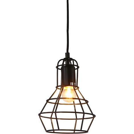 Lámpara de techo moderna negro metal look-industria [1 x E27] longitud 140cm