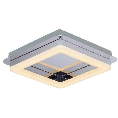 Lampara de Techo Moon Plafon - Cuadrada - de Pared - en Metal, 28 x 28 x 10 cm, 1 x LED, 16W, 1680LM, 3000K Luz Blanca