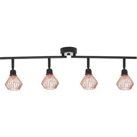 Lámpara de techo negra/cobriza VOLGA L