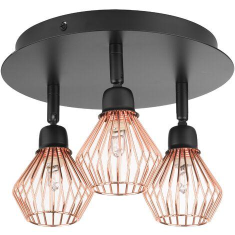 Lámpara de techo negra/cobriza VOLGA M