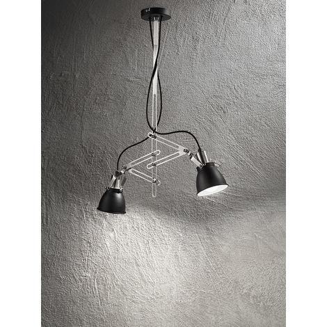 Lámpara de techo negra con 2 focos cm 0 PERENZ 6428 N