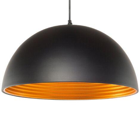 Lámpara de techo negra/dorada GRAND