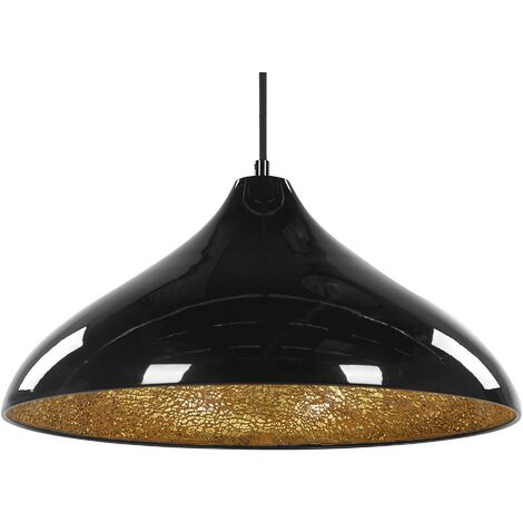 Lámpara de techo negra ISKAR