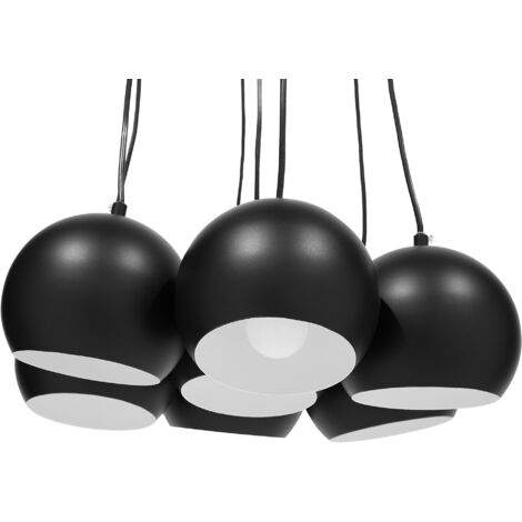 Lámpara de techo negra OLZA