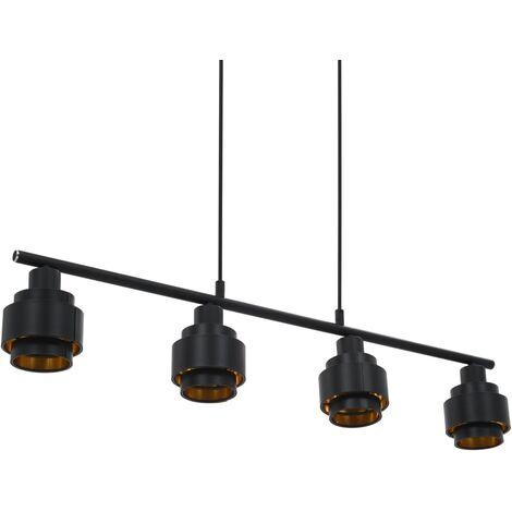 Lámpara de techo negro 82 cm E14