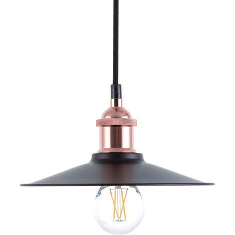 Lámpara de techo negro/cobre SWIFT S